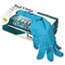 AnsellPro Touch N Tuff Nitrile Gloves, Teal, Size 8.5 9, 100/Box Thumbnail 2