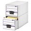 Bankers Box® STOR/DRAWER File Drawer Storage Box, Legal, White/Blue, 6/Carton Thumbnail 1