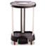 Rubbermaid® Commercial Step-On Linen Hamper, 20 3/8w x 22 1/4d x 37 7/8h, Plastic/Aluminum, Black Thumbnail 1