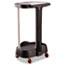 Rubbermaid® Commercial Step-On Linen Hamper, 20 3/8w x 22 1/4d x 37 7/8h, Plastic/Aluminum, Black Thumbnail 4