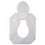 HOSPECO® Health Gards Toilet Seat Covers, Half-Fold, White, 250/Pack, 10 Boxes/Carton Thumbnail 1