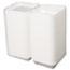 Genpak® Snap It Foam Container, 1-Comp, 9 1/4 x 9 1/4 x 3, White, 100/Bag, 2 Bags/Carton Thumbnail 4