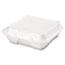 Genpak® Snap It Foam Container, 1-Comp, 9 1/4 x 9 1/4 x 3, White, 100/Bag, 2 Bags/Carton Thumbnail 2