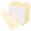 """Pendaflex® Three Fastener File Folder, 3/4"""" Exp, 1/3 Cut Tab, Letter, Manila, 50/BX Thumbnail 1"""
