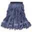 Rubbermaid® Commercial Swinger Loop Wet Mop Head, Medium, Cotton/Synthetic, Blue, 6/Carton Thumbnail 1
