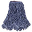 Rubbermaid® Commercial Super Stitch Blend Mop Head, Large, Cotton/Synthetic, Blue, 6/CT Thumbnail 1