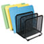 """Universal® Deluxe Mesh Stacking Sorter, 5 Sections, Letter to Legal Size Files, 14.63"""" x 8.13"""" x 7.5"""", Black Thumbnail 2"""