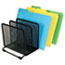 """Universal® Deluxe Mesh Stacking Sorter, 5 Sections, Letter to Legal Size Files, 14.63"""" x 8.13"""" x 7.5"""", Black Thumbnail 3"""