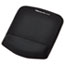 Fellowes® PlushTouch Mouse Pad with Wrist Rest, Foam, Black, 7 1/4 x 9-3/8 Thumbnail 1