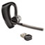 Plantronics® Voyager Legend UC Monaural Over-the-Ear Bluetooth Headset, Microsoft Optimized Thumbnail 1