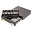 SteelMaster® Alarm Alert Steel Cash Drawer w/Key & Push-Button Release Lock, Black Thumbnail 1