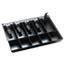SteelMaster® Alarm Alert Steel Cash Drawer w/Key & Push-Button Release Lock, Black Thumbnail 5