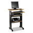 Safco® Adjustable Height Stand-Up Workstation, 29w x 22d x 49h, Cherry/Black Thumbnail 1