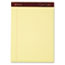 Ampad™ Gold Fibre Writing Pads, Legal/Legal Rule, Ltr, Canary, 4 50-Sheet Pads/Pack Thumbnail 1
