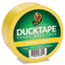 """Duck® Colored Duct Tape, 1.88"""" x 20yds, 3"""" Core, Yellow Thumbnail 1"""
