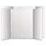 Eco Brites Too Cool Tri-Fold Poster Board, 28 x 40, White/White, 12/Carton Thumbnail 1