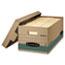 Bankers Box® STOR/FILE Storage Box, Legal, Locking Lift-off Lid, Kraft/Green, 12/Carton Thumbnail 1