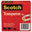 """Scotch™ Transparent Tape 600 2P12 72, 1/2"""" x 2592"""", 3"""" Core, Transparent, 2/Pack Thumbnail 1"""