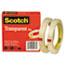 """Scotch™ Transparent Tape 600 2P12 72, 1/2"""" x 2592"""", 3"""" Core, Transparent, 2/Pack Thumbnail 2"""