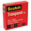"""Scotch™ Transparent Tape, 1/2"""" x 1296"""", 1"""" Core, Clear Thumbnail 4"""