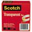 """Scotch™ Transparent Tape 600 2P34 72, 3/4"""" x 2592"""", 3"""" Core, Transparent, 2/Pack Thumbnail 3"""