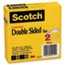"""Scotch™ 665 Double-Sided Tape, 1/2"""" x 1296"""", 3"""" Core, Transparent, 2/Pack Thumbnail 4"""