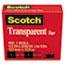 """Scotch™ Transparent Tape, 1/2"""" x 1296"""", 1"""" Core, Clear Thumbnail 2"""