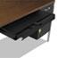 Alera® Double Pedestal Steel Desk, Metal Desk, 72w x 36d x 29-1/2h, Walnut/Black Thumbnail 2