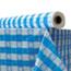 "Atlantis Plastics Plastic Table Cover, 40"" x 300 ft Roll, Blue Gingham Thumbnail 1"