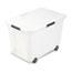 Advantus Rolling Storage Box, Letter/Legal, 15-Gallon Size, Clear Thumbnail 1