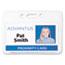 Advantus Proximity ID Badge Holder, Horizontal, 3 3/8w x 2 3/8h, Clear, 50/Pack Thumbnail 2