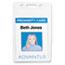 Advantus Proximity ID Badge Holder, Vertical, 2 3/8w x 3 3/8h, Clear, 50/Pack Thumbnail 2