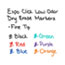 EXPO® Click Dry Erase Markers, Fine Tip, Assorted, 6/Set Thumbnail 5