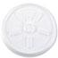 Dart® Lids, Plastic, Vented, 10 oz., White, 1000/Carton Thumbnail 1