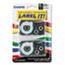 Casio® Tape Cassettes for KL Label Makers, 12mm x 26ft, Black on White, 2/Pack Thumbnail 1