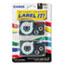 Casio® Tape Cassettes for KL Label Makers, 9mm x 26ft, Black on White, 2/Pack Thumbnail 1