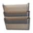 deflecto® Unbreakable Wall File Set, Letter, Three Pocket, Smoke Thumbnail 1