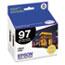 Epson® T097120D2 (97) Extra High-Yield Ink, Black, 2/PK Thumbnail 1