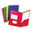 Oxford™ Fashion PolyPort Twin-Pocket Portfolio, Polypropylene, Assorted, 25/Box Thumbnail 1