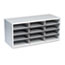Fellowes® Particle Board Desktop Sorter, 12 Sections, 29 x 11 7/8 x 12 15/16, Dove Gray Thumbnail 2