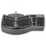 Fellowes® Ergonomic Split-Design Keyboard w/Antimicrobial Protection, 105 Keys, Black Thumbnail 1