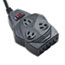 Fellowes® Mighty 8 Surge Protector, 8 Outlets, 6 ft Cord, 1460 Joules, Black Thumbnail 1
