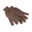 Boardwalk® Jersey Knit Wrist Clute Gloves, One Size Fits Most, Brown, 12 Pairs Thumbnail 1