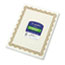 Geographics® Parchment Paper Certificates, 8-1/2 x 11, Optima Gold Border, 25/Pack Thumbnail 1