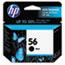 HP 56 Ink Cartridge, Black (C6656AN) Thumbnail 1