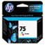 HP 75 Ink Cartridge, Tri-color (CB337WN) Thumbnail 1