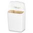 HOSPECO® Wall Mount Sanitary Napkin Receptacle, Plastic, 1gal, White Thumbnail 1