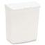 HOSPECO® Wall Mount Sanitary Napkin Receptacle, Plastic, 1gal, White Thumbnail 2