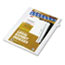 """Legal Tabs 80000 Series Legal Exhibit Index Dividers, Side Tab, """"D"""", White, 25/Pack Thumbnail 2"""
