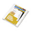 """Legal Tabs 80000 Series Legal Exhibit Index Dividers, Side Tab, """"F"""", White, 25/Pack Thumbnail 2"""